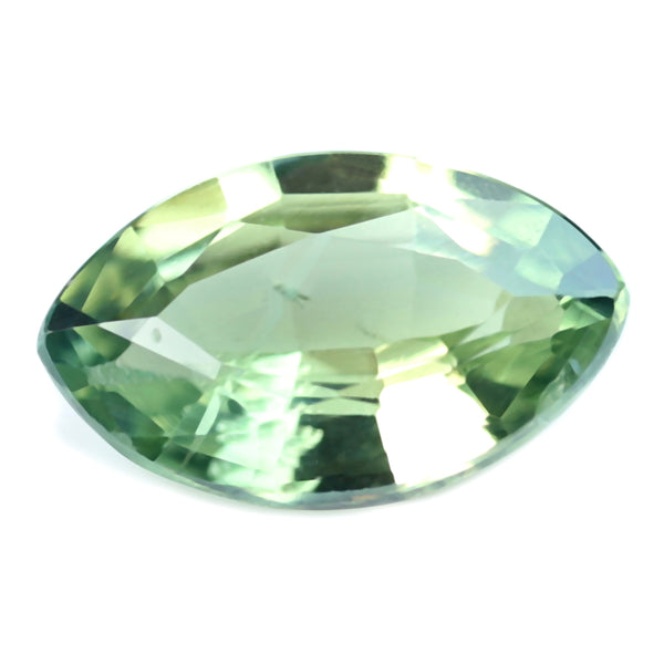 0.48ct Certified Natural Green Sapphire