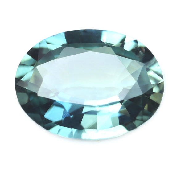 0.66ct Certified Natural Teal Sapphire