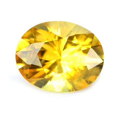 1.32ct Certified Natural Yellow Sapphire