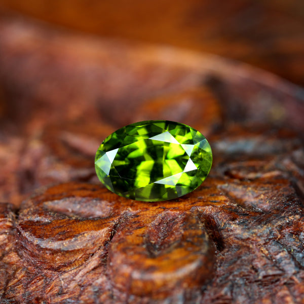 1.68ct Certified Natural Green Sapphire