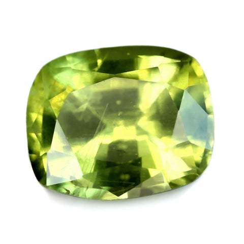 0.84ct Certified Natural Green Sapphire