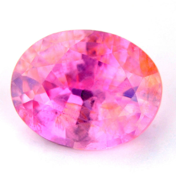 Certified Natural Unheated Pink Sapphire 0.84ct Si Clarity Oval Shape Untreated Madagascar Gemstone - sapphirebazaar - 1