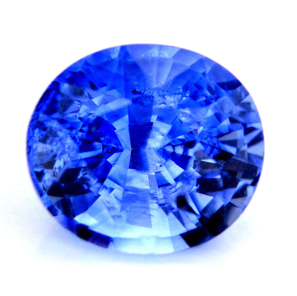 Certified Natural Ceylon Cornflower Blue Sapphire 0.79ct Oval Shape Si Clarity Sri Lanka Gem - sapphirebazaar - 1