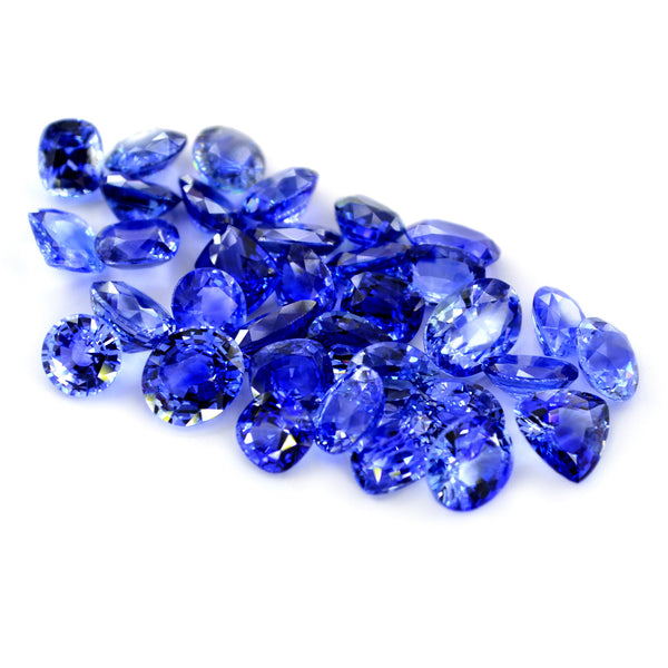 45.50ct Certified Natural Blue Sapphire Parcel