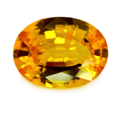 0.93 ct Certified Natural Yellow Sapphire