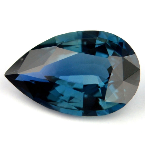 Certified Natural Teal Sapphire 0.77ct Pear Shape Eye Clean Madagascar Gemstone - sapphirebazaar - 1