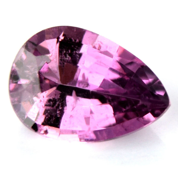 Certified Natural Pinkish Purple Sapphire 0.78ct Pear Shape Si Clarity Madagascar Gem - sapphirebazaar - 1