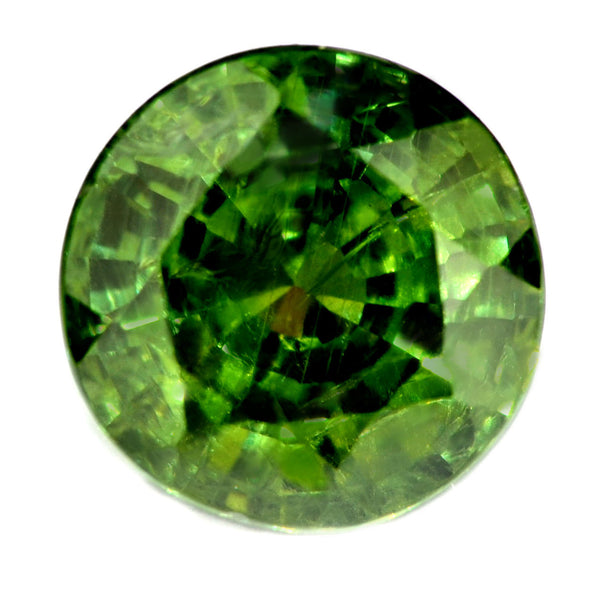 4.07ct Natural Green Sapphire - SI clarity - Heated - 8.21x8.13.6.13mm Madagascar - sapphirebazaar - 1