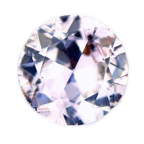 4.99 mm Certified Natural White Sapphire - sapphirebazaar - 1