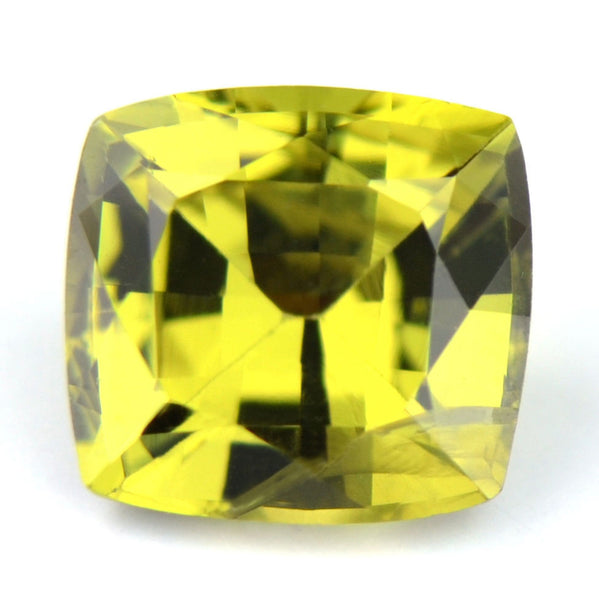 Certified Natural Sapphire 0.71ct Greenish Yellow Color Cushion Shape Si Clarity Madagascar Gem - sapphirebazaar - 1