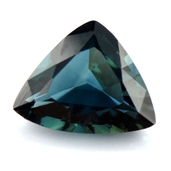 Certified Natural Teal Sapphire 1.07ct Trillion Shape Vvs Clarity Madagascar Gem - sapphirebazaar - 1