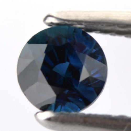 Certified Natural 0.74ct Greenish Blue Sapphire vs Clarity 4.84mm Round Madagascar Gem - sapphirebazaar - 1