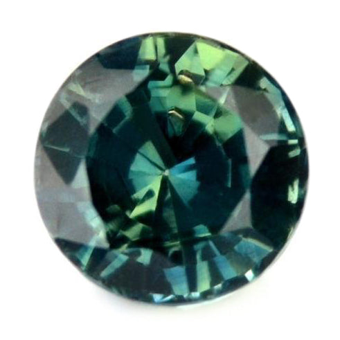 4.78 mm Certified 0.73 ct Natural Teal Sapphire