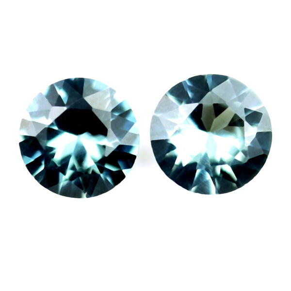 2.50mm Certified Natural Teal Sapphire Pair