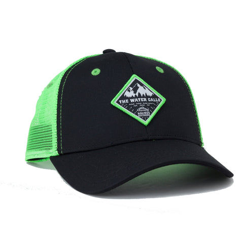 The Water Calls Trucker Hat (Green Black)