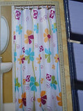Fun Retro Colorful Flower Shower Curtain  70 x 72