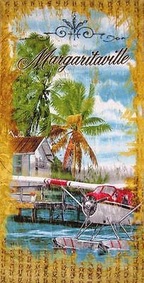 Margaritaville Cotton Beach Towel 30 x 58 Soft Fast Drying and Great to Look at!