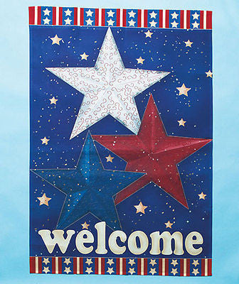 Jumbo Patriotic Garden Flag With Large Stars 28 x 40
