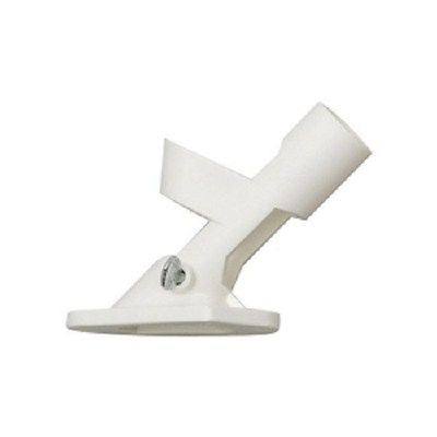 Two Position White PVC Flag Pole Bracket  No Rusting
