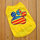Patriotic Summer Dog Shirt for the Beach Picnic Pool Parties Assorted Sizes USA