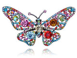 Crystal Rhinestone Butterfly Pin Brooch - Colorful