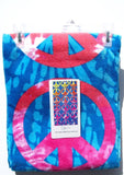 "Peace Sign Beach Towel - 30 x 60"" Lightweight 100 % Cotton Colorful Retro"