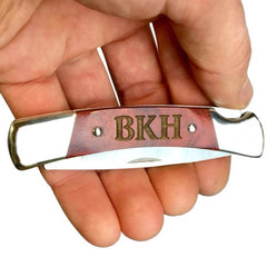 Personalized Engraving on Buck Knives Squire BU501 engraved pocket knife