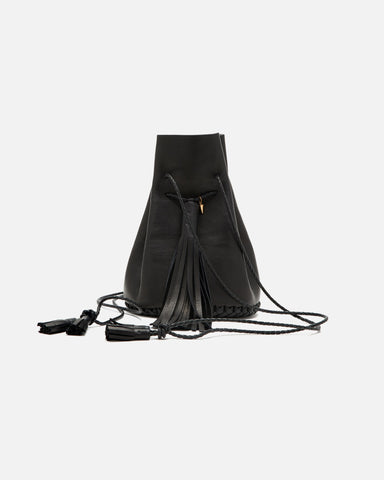 Bullet Bag in Black Leather