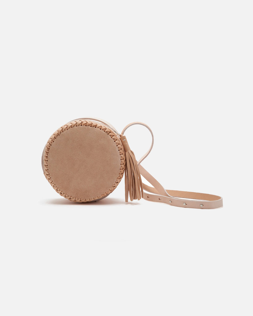 Medium Canteen Bag in Natural Suede