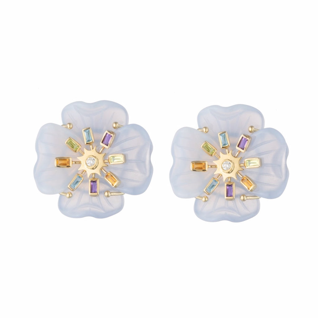 Medium Clover Sputnik Earrings