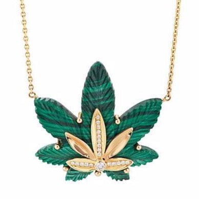 Medium Cannabis Leaf Necklace