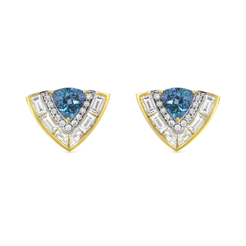 Trillion Stone Diamond Earrings