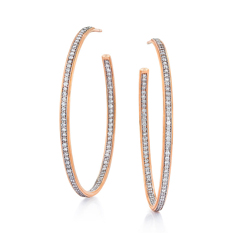 Grant Diamond Hoop Earrings