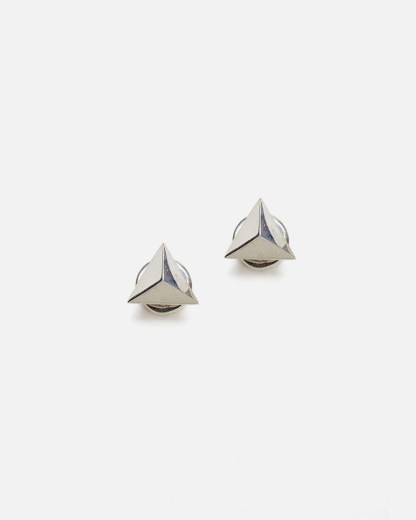 Sterling Silver Pyramid Cuff Links