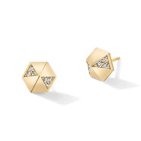 Diamond Hexagon Dome Studs