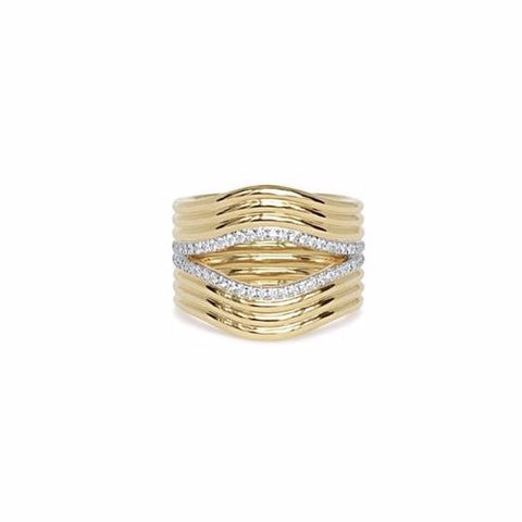 Berceau Huit Gold and Diamond Ring