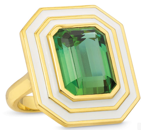 Museum Series Green Tourmaline Ring