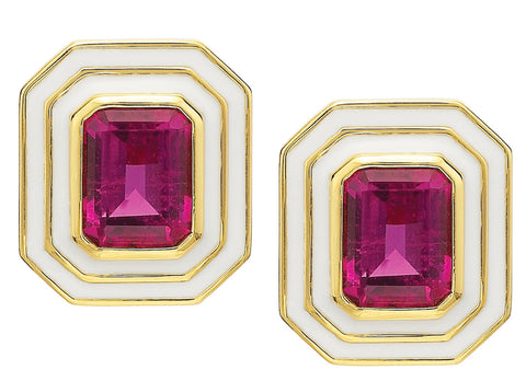 Museum Series Pink Tourmaline Earrings