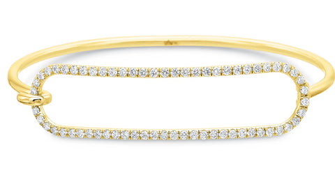 Yellow Gold Diamond Tension Bracelet in 2mm