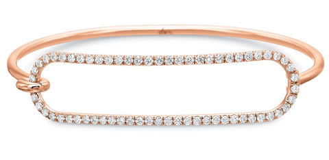 Rose Gold Diamond Tension Bracelet in 2mm