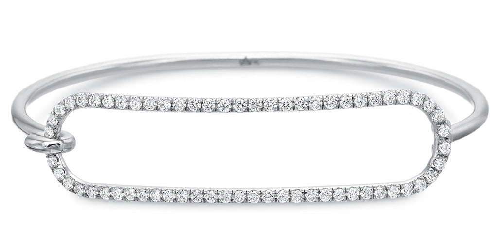 White Gold Diamond Tension Bracelet in 2mm