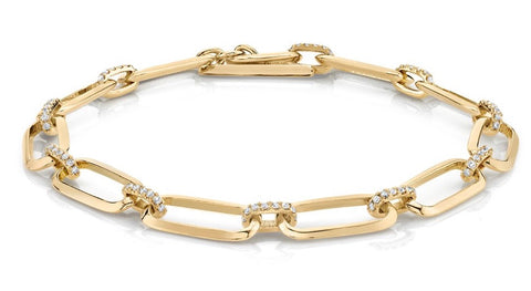Knife Edge Diamond Bridge Bracelet