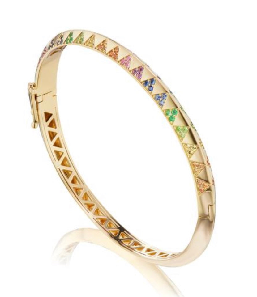Knife Edge Rainbow Bangle