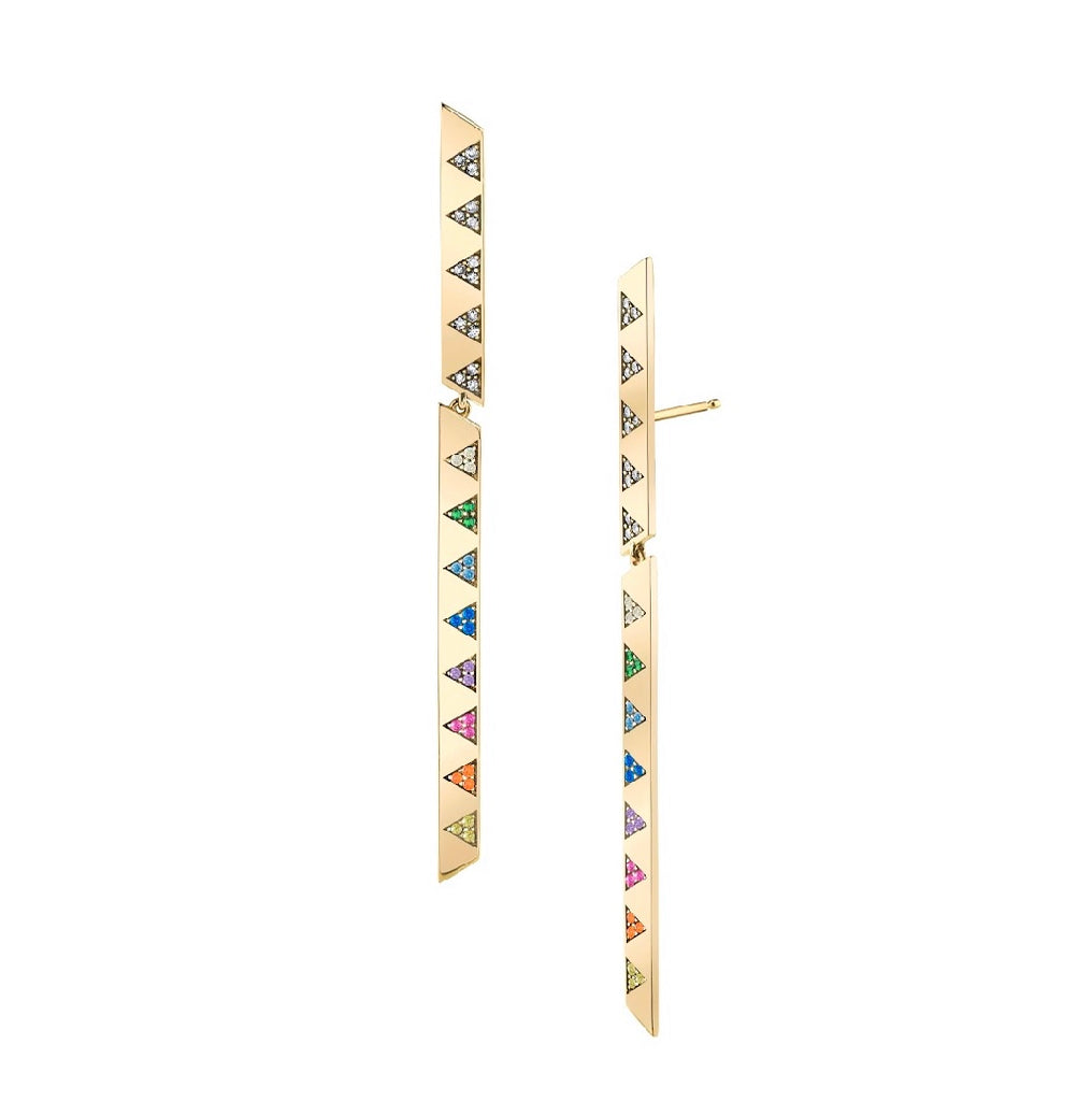 Articulated Diamond Stick Earrings
