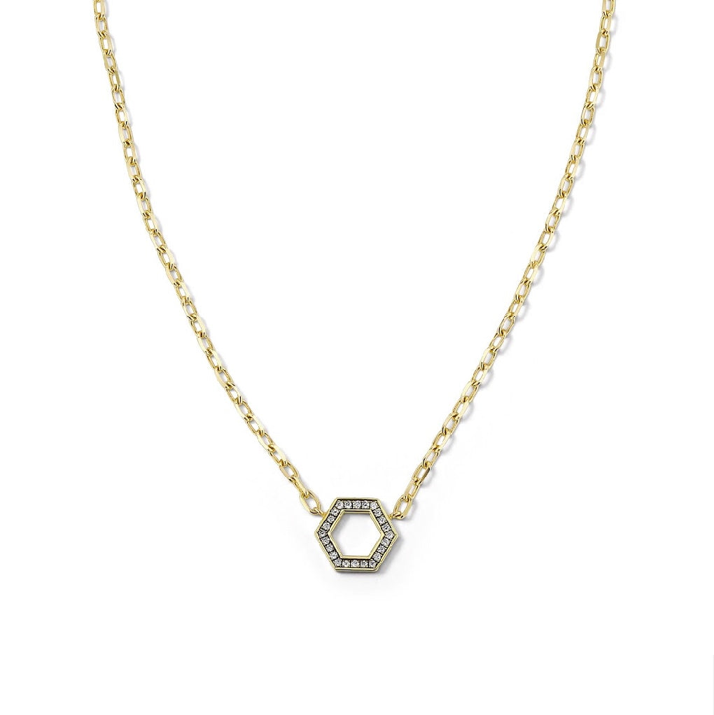 "18"" Thin Gold and Diamond Foundation Necklace"