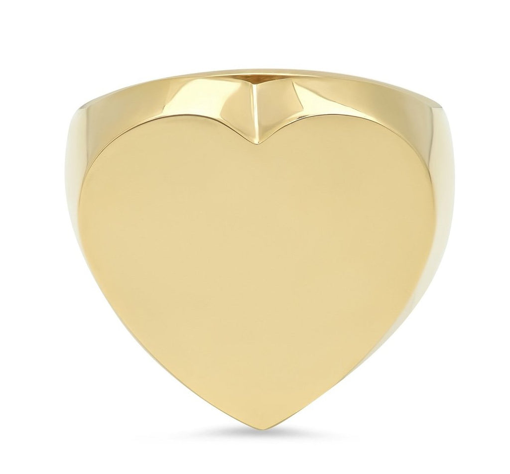 Flat Heart Surface Ring