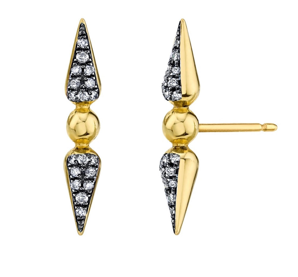 Shirley Pavé Spear Studs