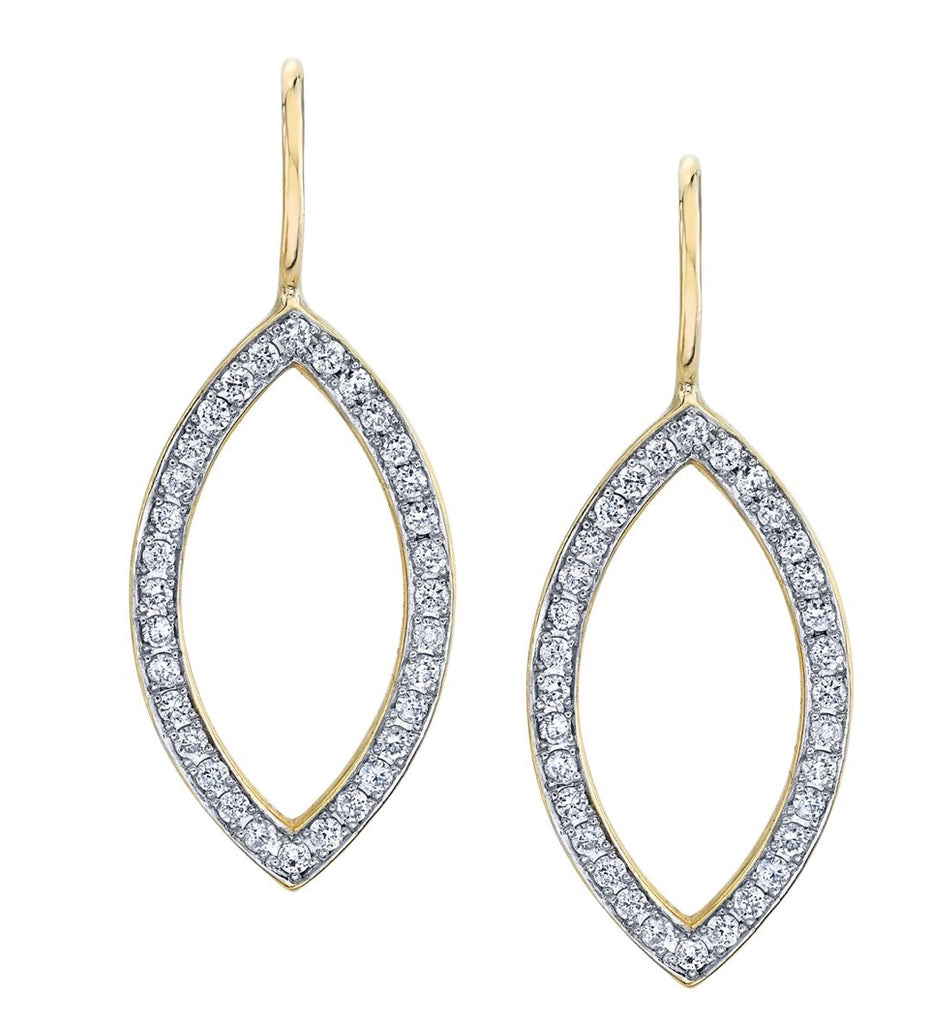 Pavé Open Marquis Diamond Earrings