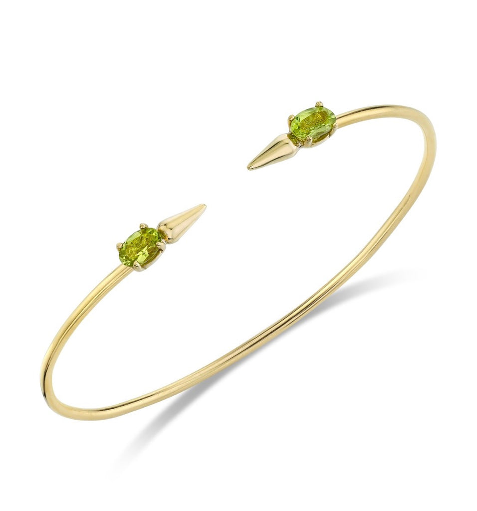 Spear Bangle with Peridot