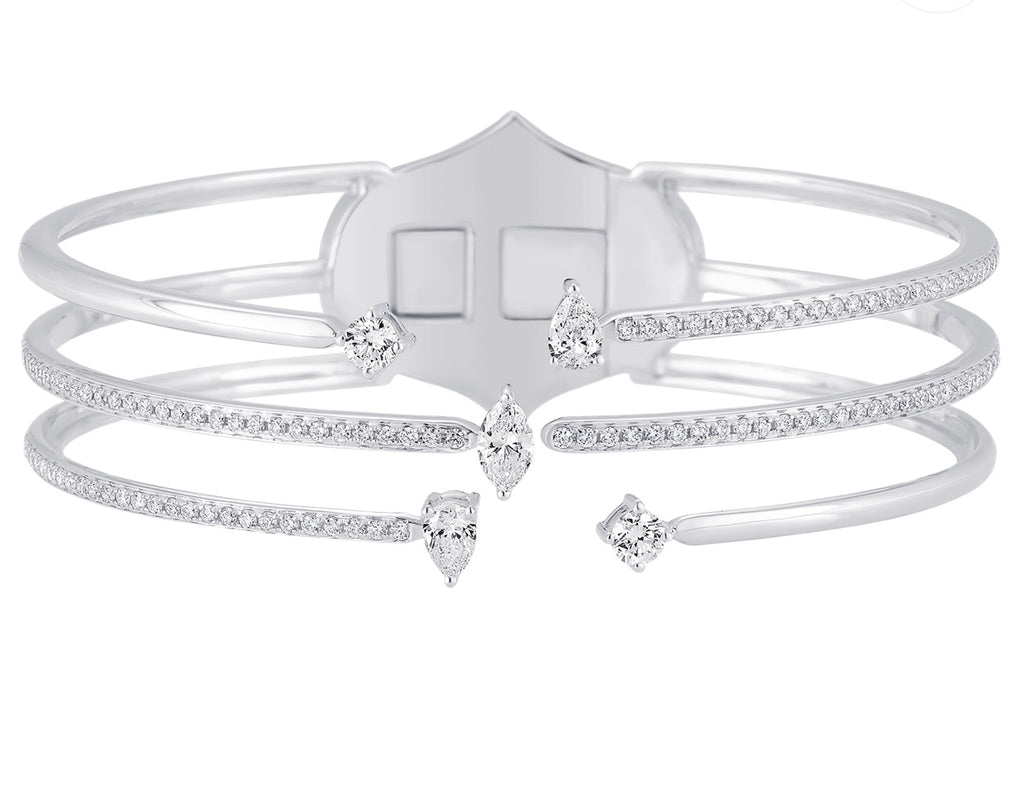 Purity 5 Diamond Bangle Cuff